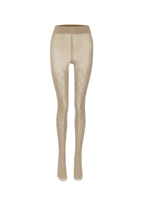 GG crystal-embellished tights