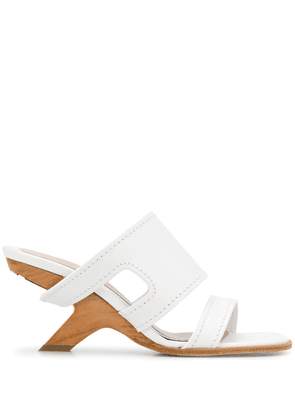 Alexander McQueen strappy leather mules - White