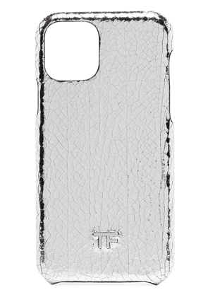 Tom Ford Silver tone metallic cracked iPhone case