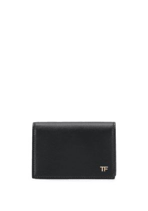 Tom Ford logo plaque cardholder - Black
