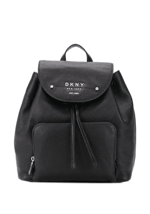 DKNY Thompson logo plaque backpack - Black