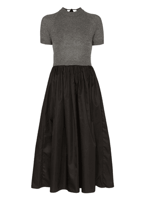 Prada knitted top flared midi-dress - Grey
