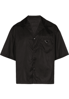 Prada boxy fit bowling shirt - Black