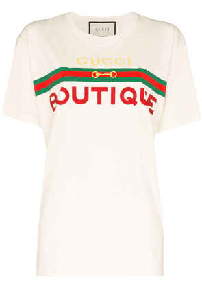 Gucci logo-print cotton T-shirt - White