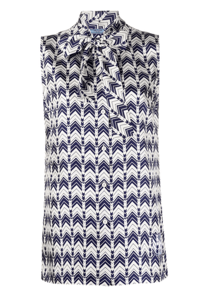 Prada geometric print blouse - Blue