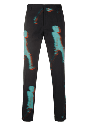 Paul Smith distorted print trousers - Blue