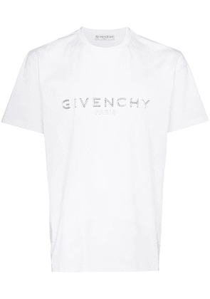 Givenchy logo-appliqued cotton T-shirt - White