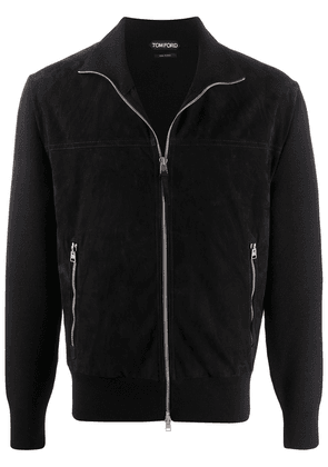 Tom Ford slim-fit leather jacket - Black