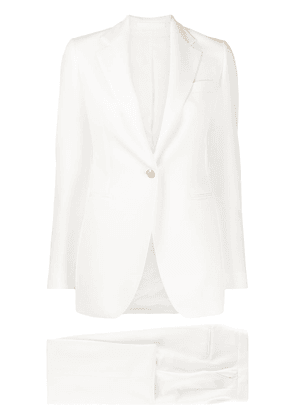 Tagliatore fitted evening suit - White