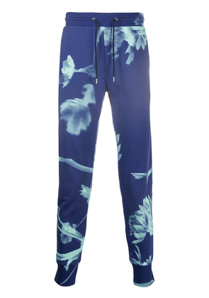 Paul Smith floral print track trousers - Blue