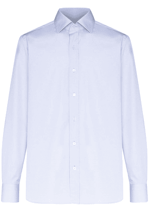 Tom Ford cutaway collar formal shirt - Blue