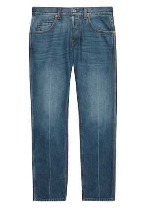 Gucci mid-rise cropped jeans - Blue