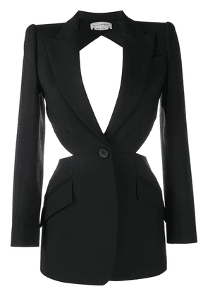 Alexander McQueen cut-out detail single-breasted blazer - Black