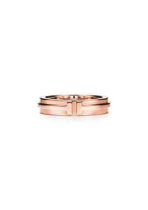 Tiffany T narrow ring in 18k rose gold, 4.5 mm wide - Size 6
