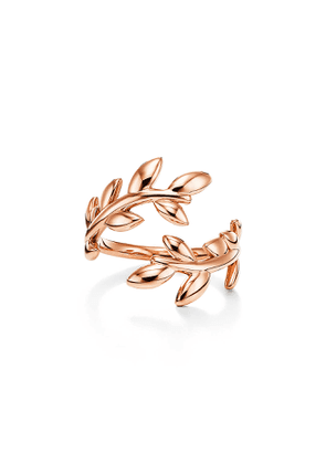 Paloma Picasso® Olive Leaf bypass ring in 18k rose gold - Size 5