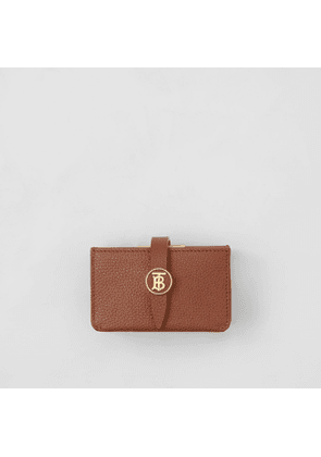 Burberry Monogram Motif Grainy Leather Card Case, Brown