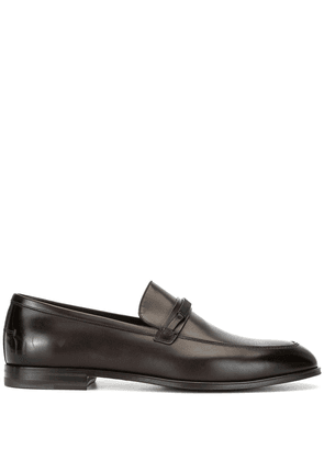 Bally logo-plaque loafers - Brown