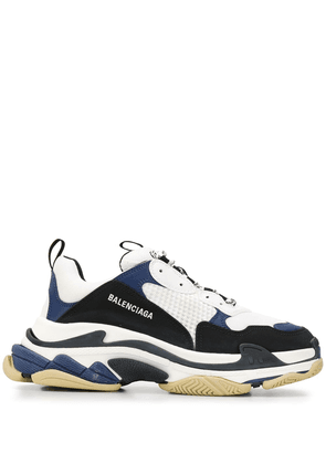Balenciaga number detail low-top sneakers - White