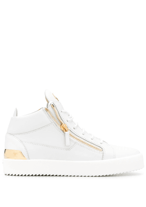 Giuseppe Zanotti side zip high-top sneakers - White