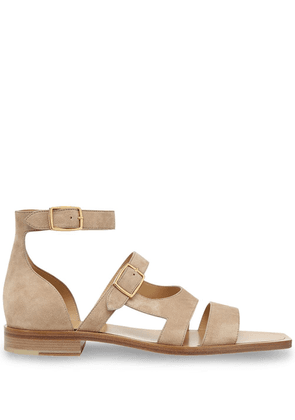Fendi square-toe strappy sandals - NEUTRALS