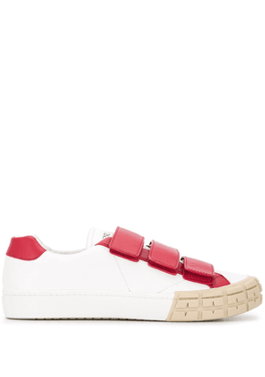 Prada touch strap low-top sneakers - White