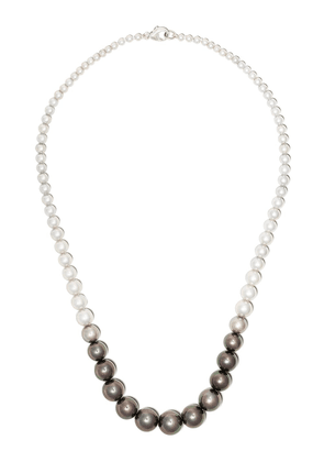 Yoko London 18kt white gold Ombré Tahitian and Akoya pearl necklace -
