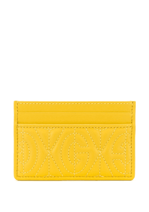 Gucci stitched logo card holder - Yellow