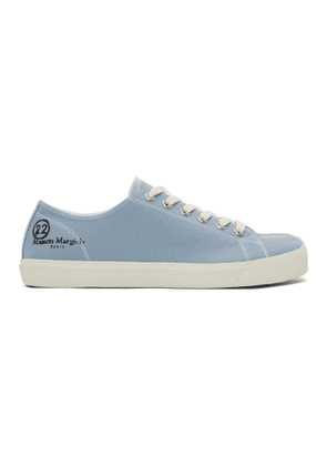 Maison Margiela Blue Canvas Tabi Sneakers