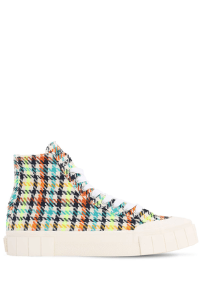 Ace Printed Canvas High Top Sneakers