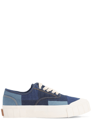Slider Denim Patchwork Sneakers