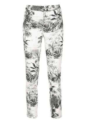 Adam Lippes palm print trousers - White