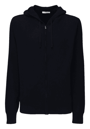 Harry Hooded Cashmere Knit Zip Sweater