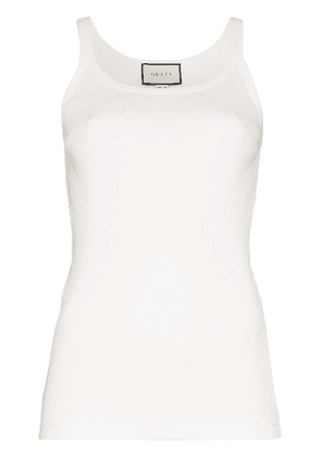 Gucci ribbed vest top - White