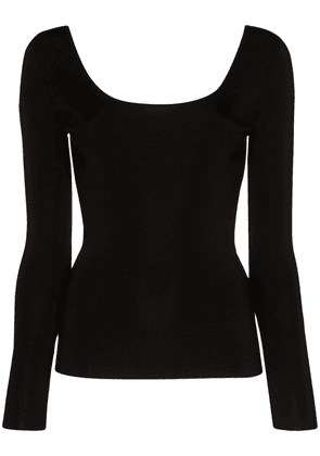 Gucci scoop neck stretch top - Black