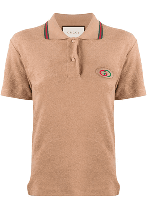 Gucci GG short-sleeve polo shirt - NEUTRALS