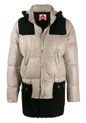 Bark B Rules contrast down jacket - Brown