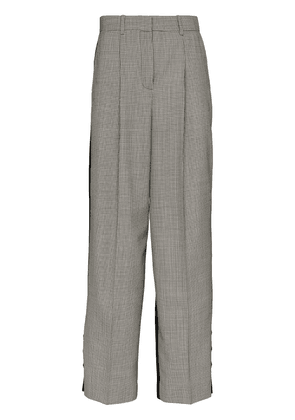 Givenchy check panelled tailored trousers - Black