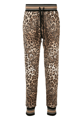 Dolce & Gabbana leopard-print track pants - Brown