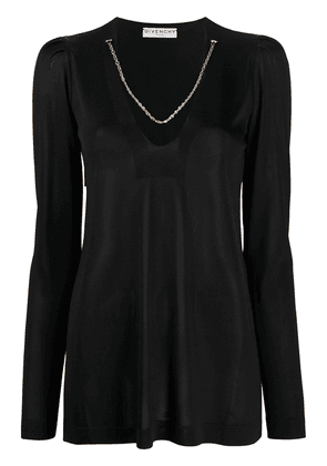 Givenchy chain trim neckline jumper - Black