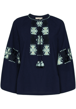 Figue Medina embroidered blouse - Blue