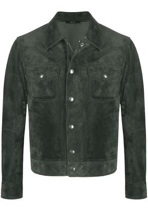Tom Ford zipped shirt jacket - Green