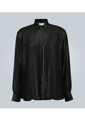 Long-sleeved sequined shirt