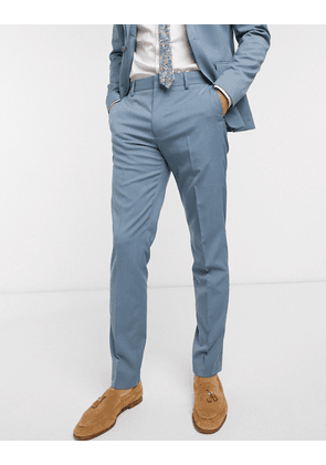 ASOS DESIGN wedding skinny suit trousers in soft blue