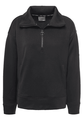 Dkny Zip-detailed French-terry Sweatshirt Woman Black Size XS