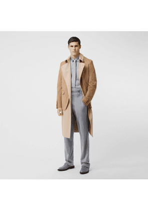 Burberry Blazer Detail Cotton Twill Reconstructed Trench Coat, Beige