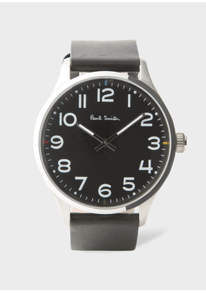 Paul Smith Men's Black Leather 'Tempo' Watch