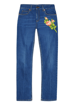 Gucci embroidered jeans - Blue