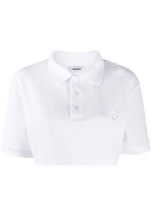 Danielle Guizio cropped polo shirt - White