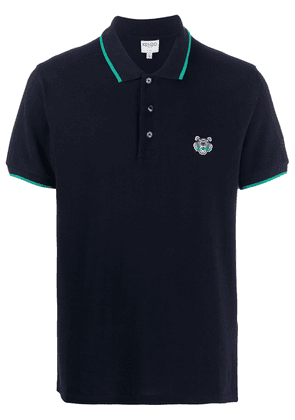 Kenzo fitted tiger polo shirt - Blue