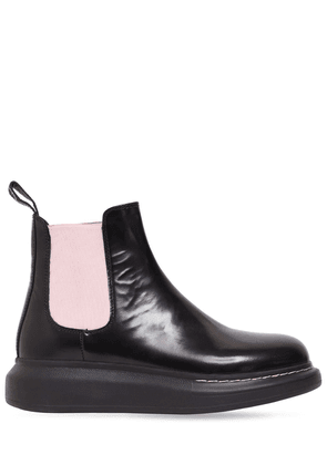 40mm Hybrid Leather Chelsea Boots